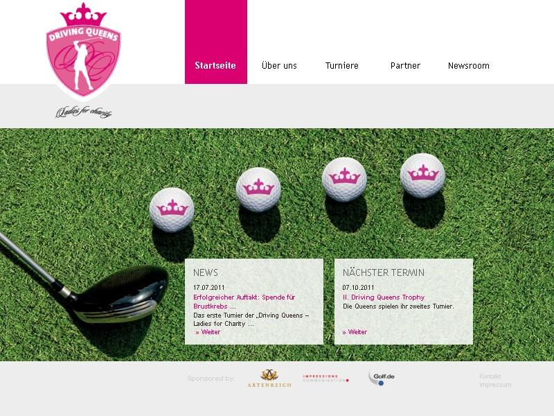 Golfen für den guten Zweck: Driving Queens ©Screenshot driving-queens.de